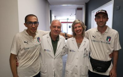 """Training on the field and monitoring for Nazionale Italiana """"Crazy For Football"""""""